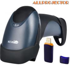 Сканер штрих-кодов лазерный Netum NT-2028 Wireless Black